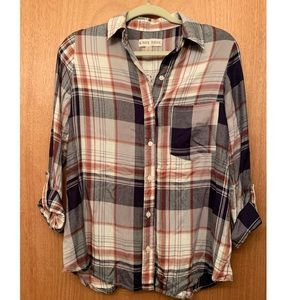 Knox Rose flannel plaid long sleeve button down